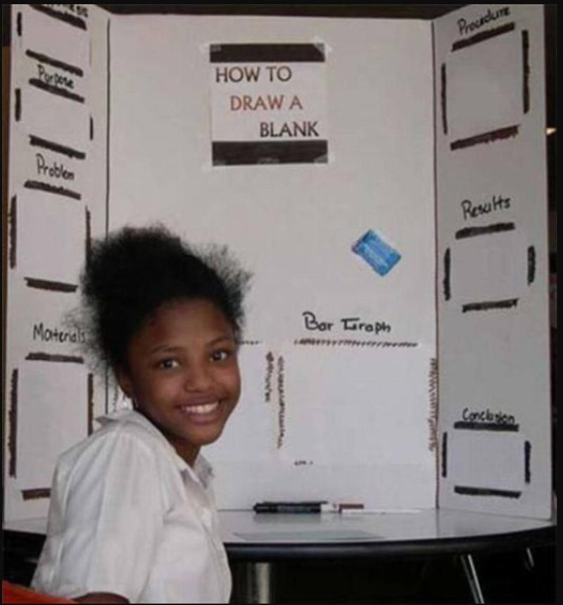 A girl's science fair project is called,