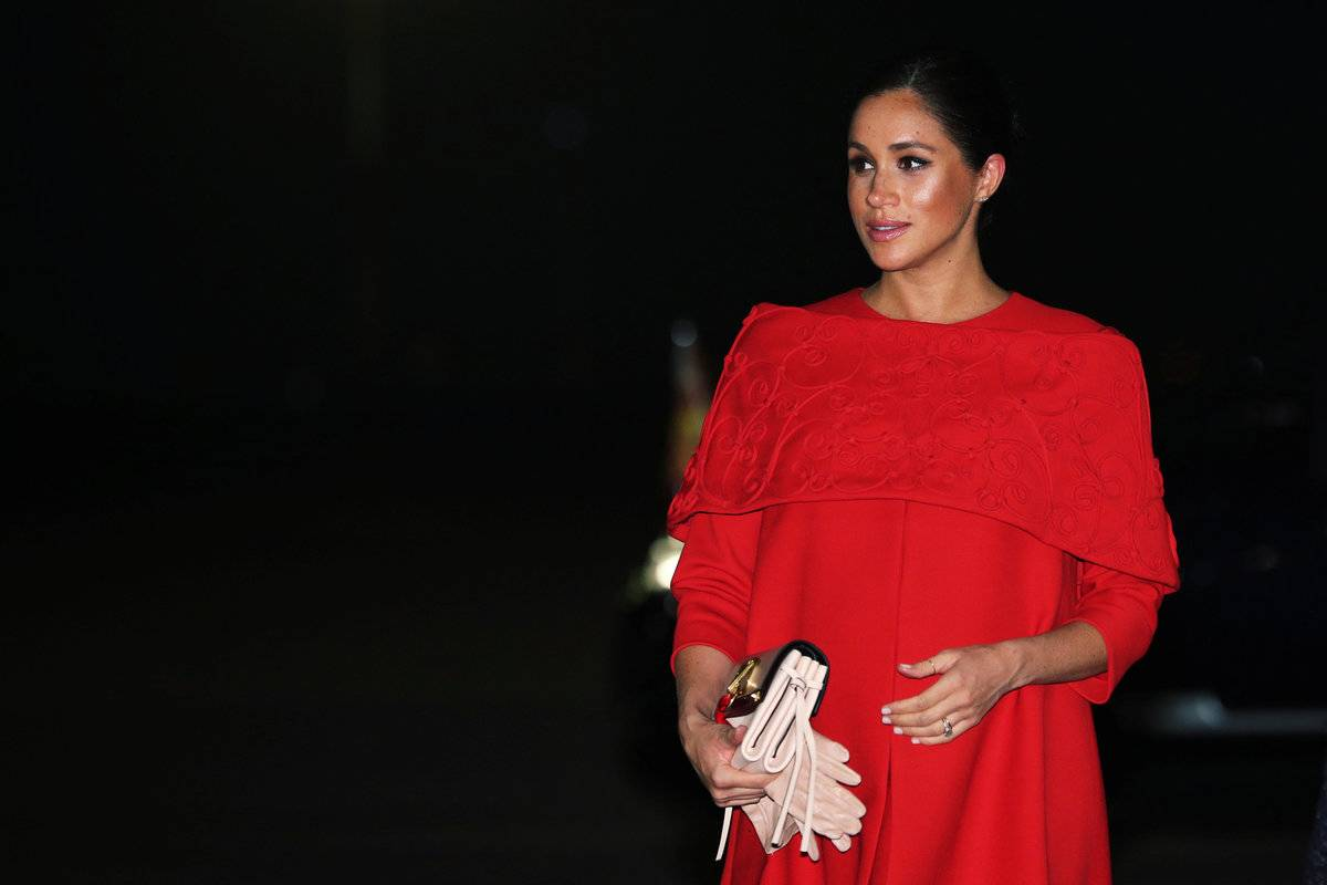 Meghan the Duchess of Sussex is seen pregnant.