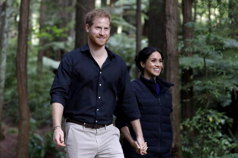 Prince Harry, Duke of Sussex and Meghan, Duchess of Sussex visit the Redwoods Tree Walk, 2018