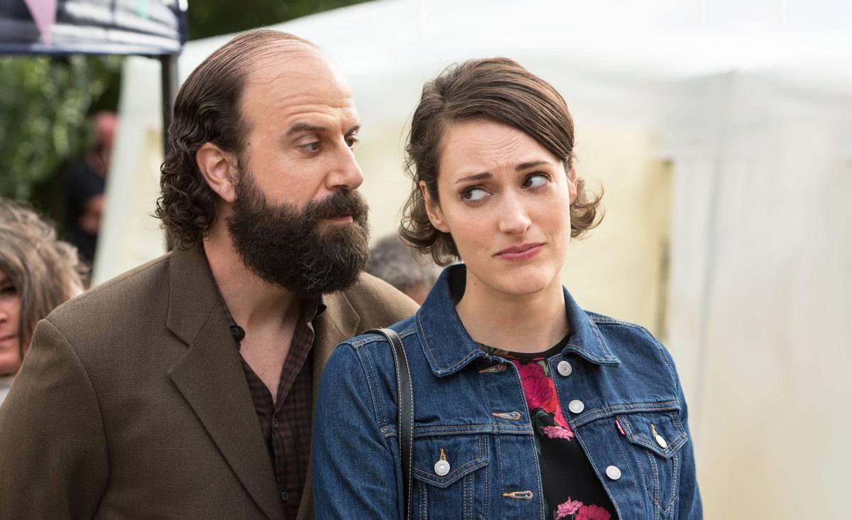 Brett Gelman and Phoebe Waller-Bridge acting on fleabag