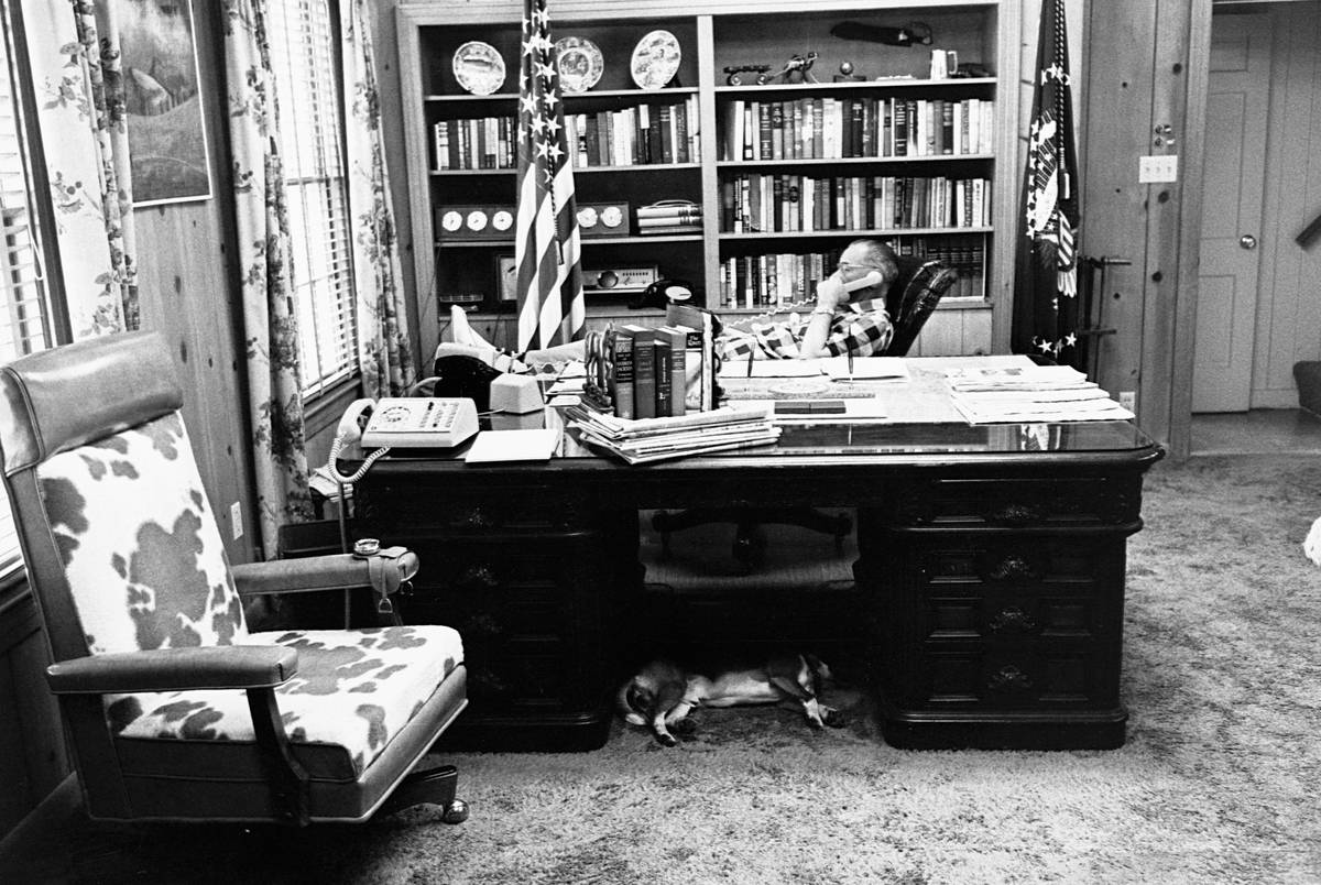 President Johnson in His Office