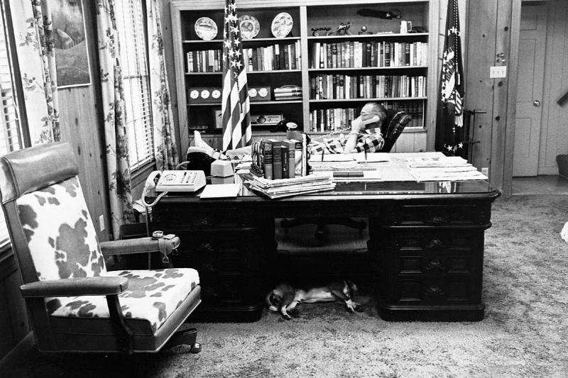 President Johnson in His Office