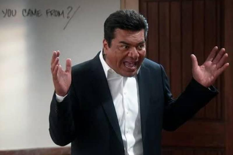 George Lopez in front of a whiteboard on saint george