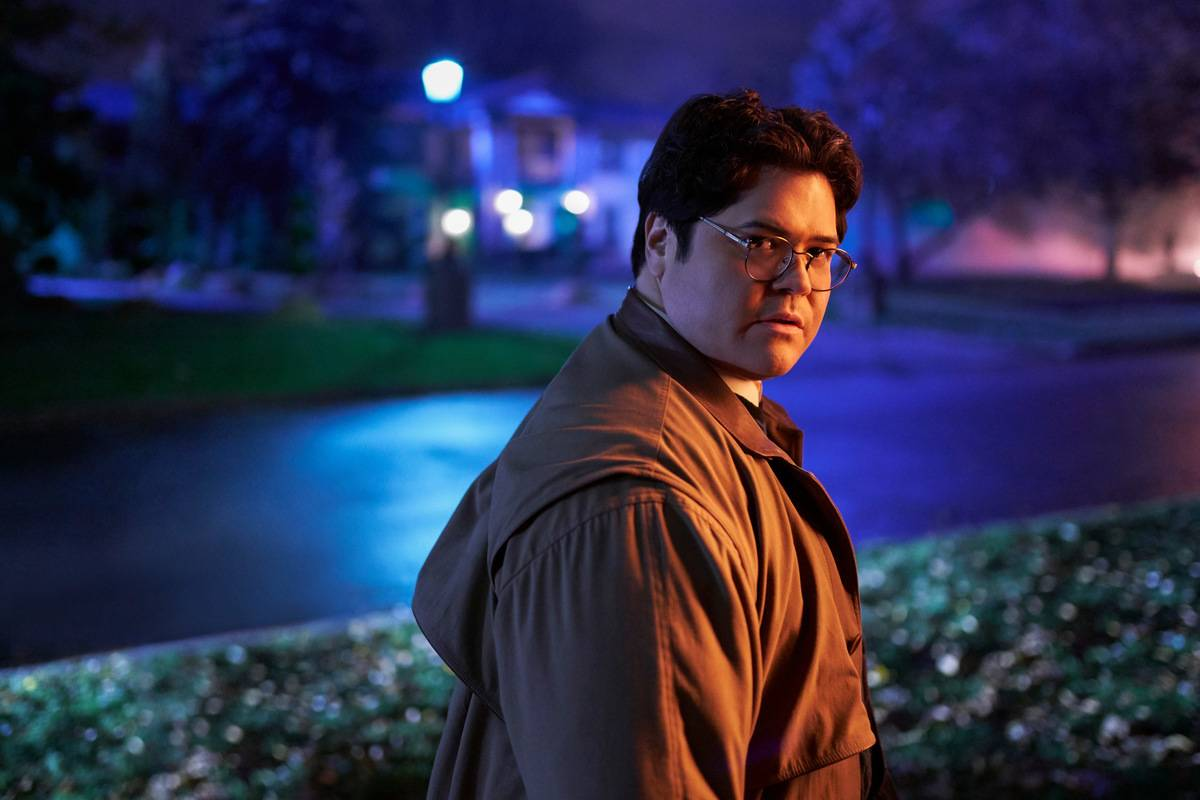 harvey guillen outside at night in what we do in the shadows
