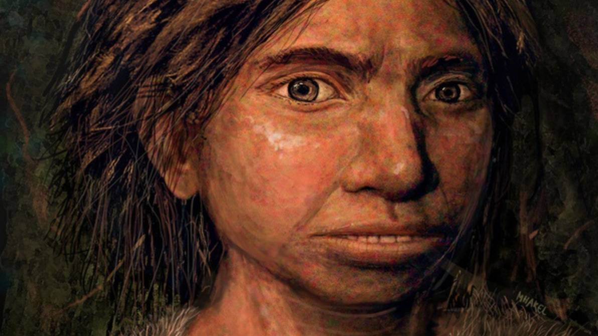 An artist's depiction shows the face of an ancient Denisovan.