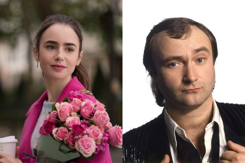 lily and phil collins side by side