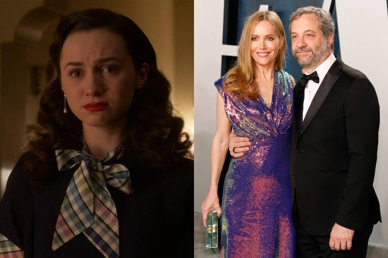 maude apatow and her parents judd apatow and leslie mann