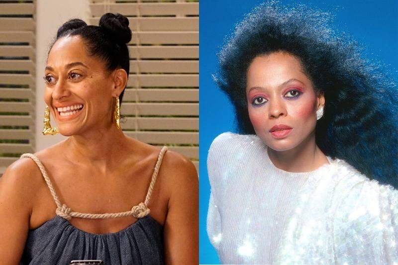 tracee ellis ross and diana ross side by side