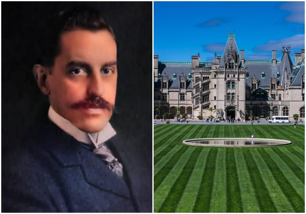 George Vanderbilt II is next to his Biltmore estate in North Carolina.
