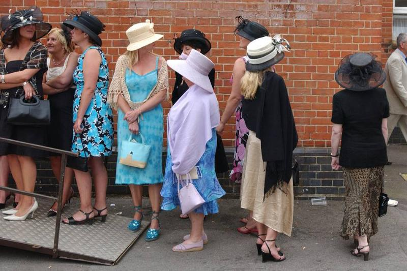 Queuing for Toilet at Ascot