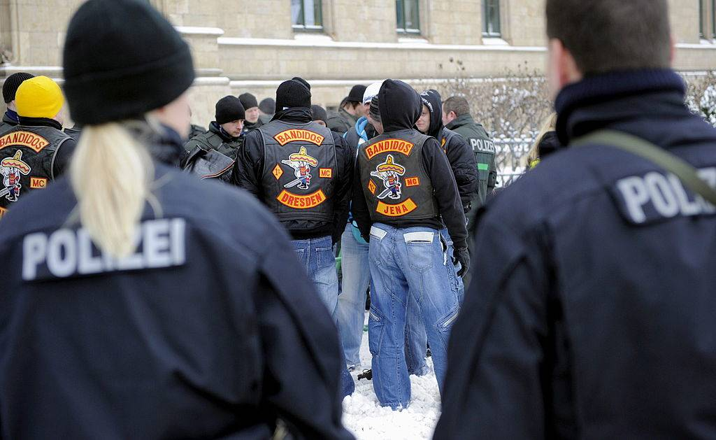 Members of the motorcycle gang