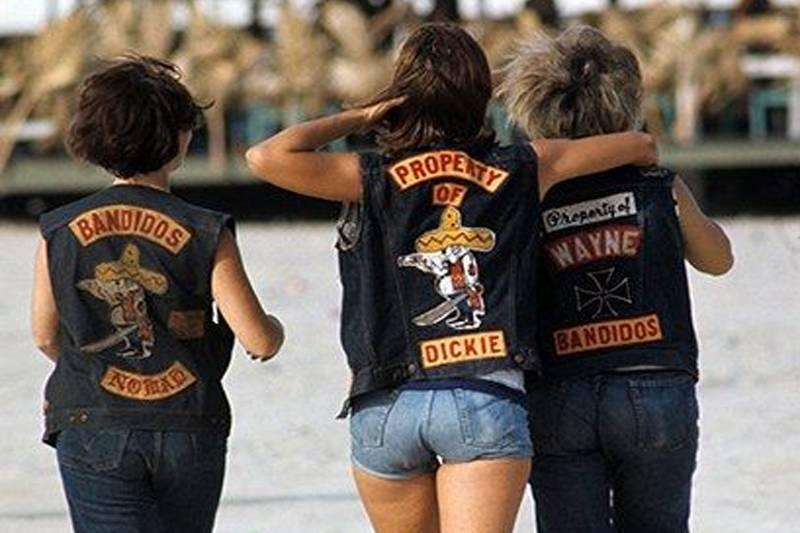 women wearing the bandidos vests
