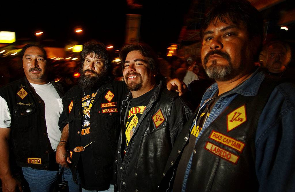 Members of the Loredo, TX chapter of the Bandidos motorcycle club