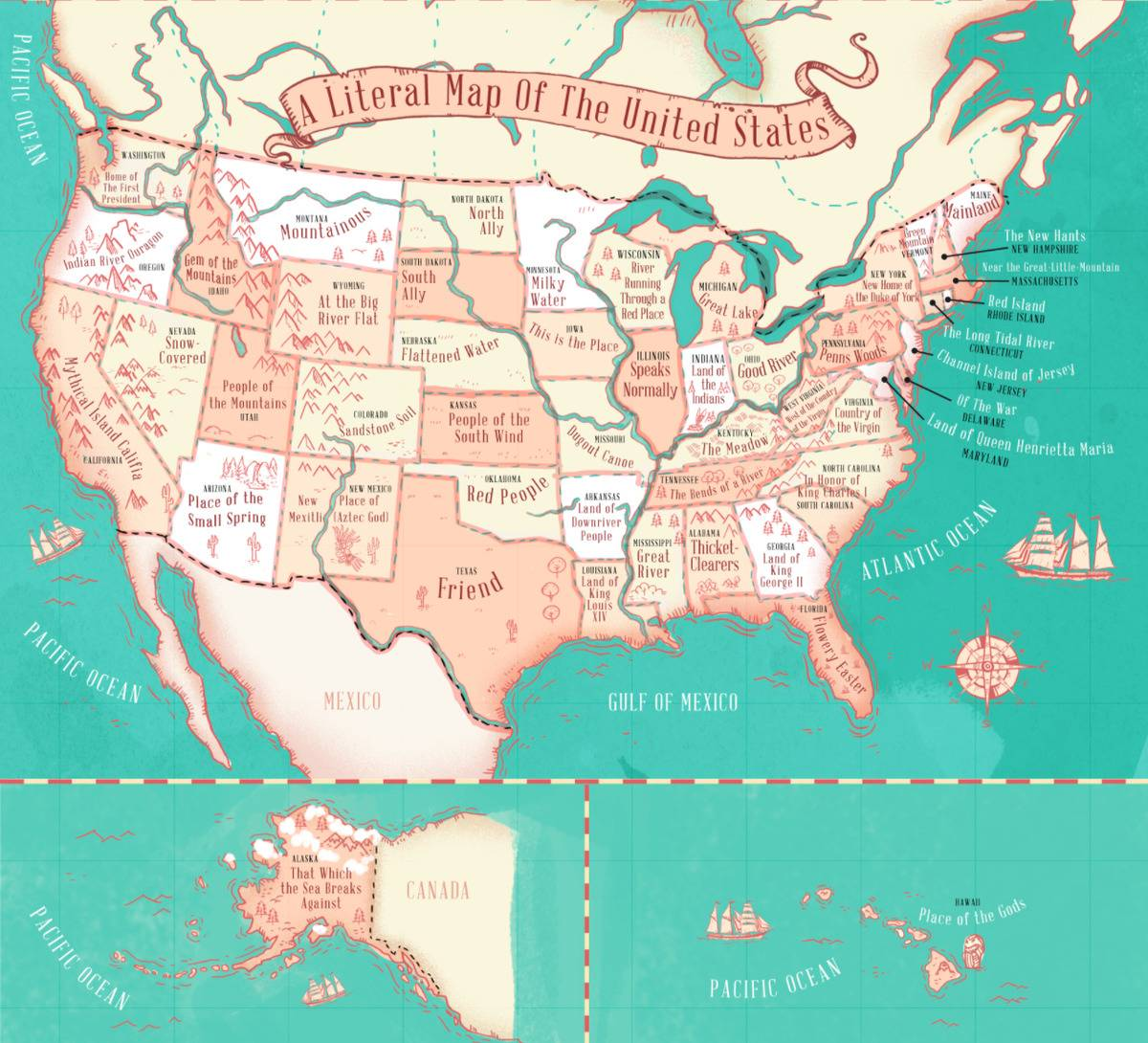 A map shows what each state's name means.