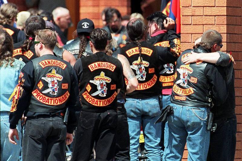 Members of the Bandidos biker gang