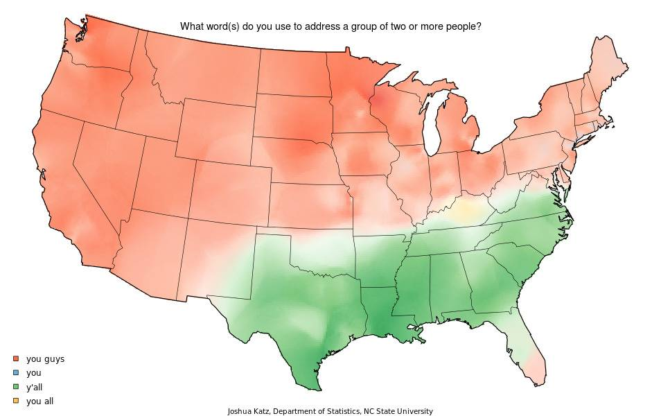 A map shows where people say