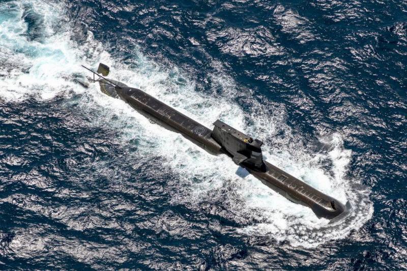 a submarine gliding through the ocean