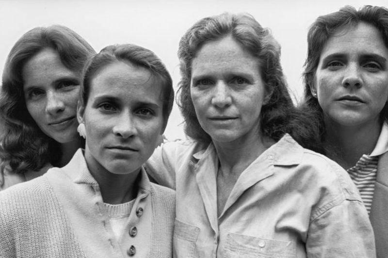 four sisters in a family photo 1984