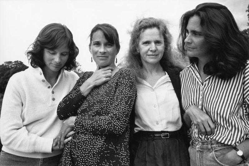 1992 four women wearing stripesand dots