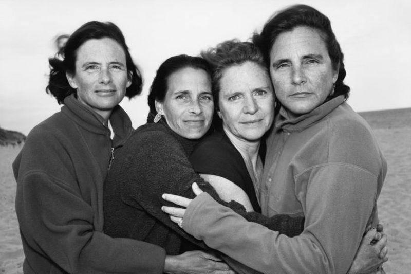 1999 four sisters hugging