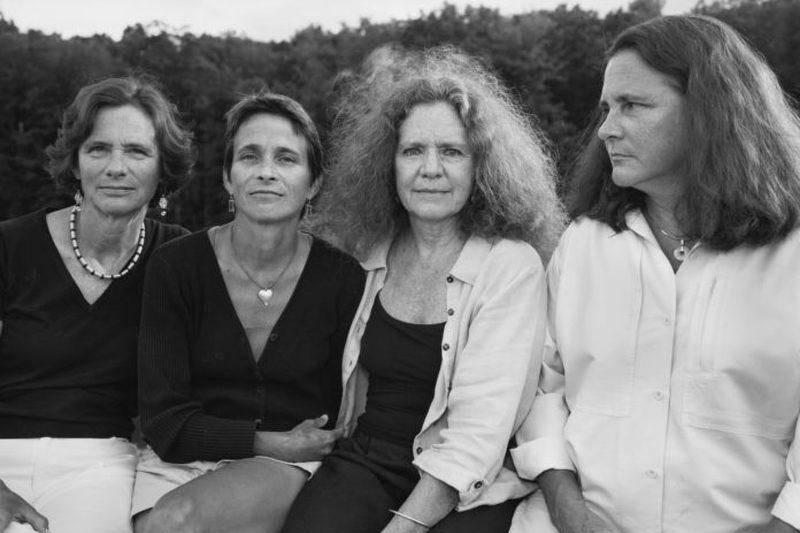 four sisters sitting together 2005