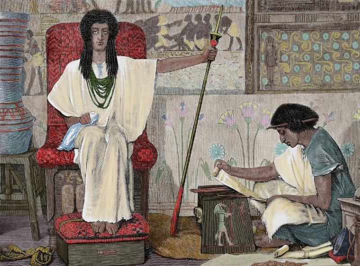 Joseph interpreting the Pharaoh's Dream.