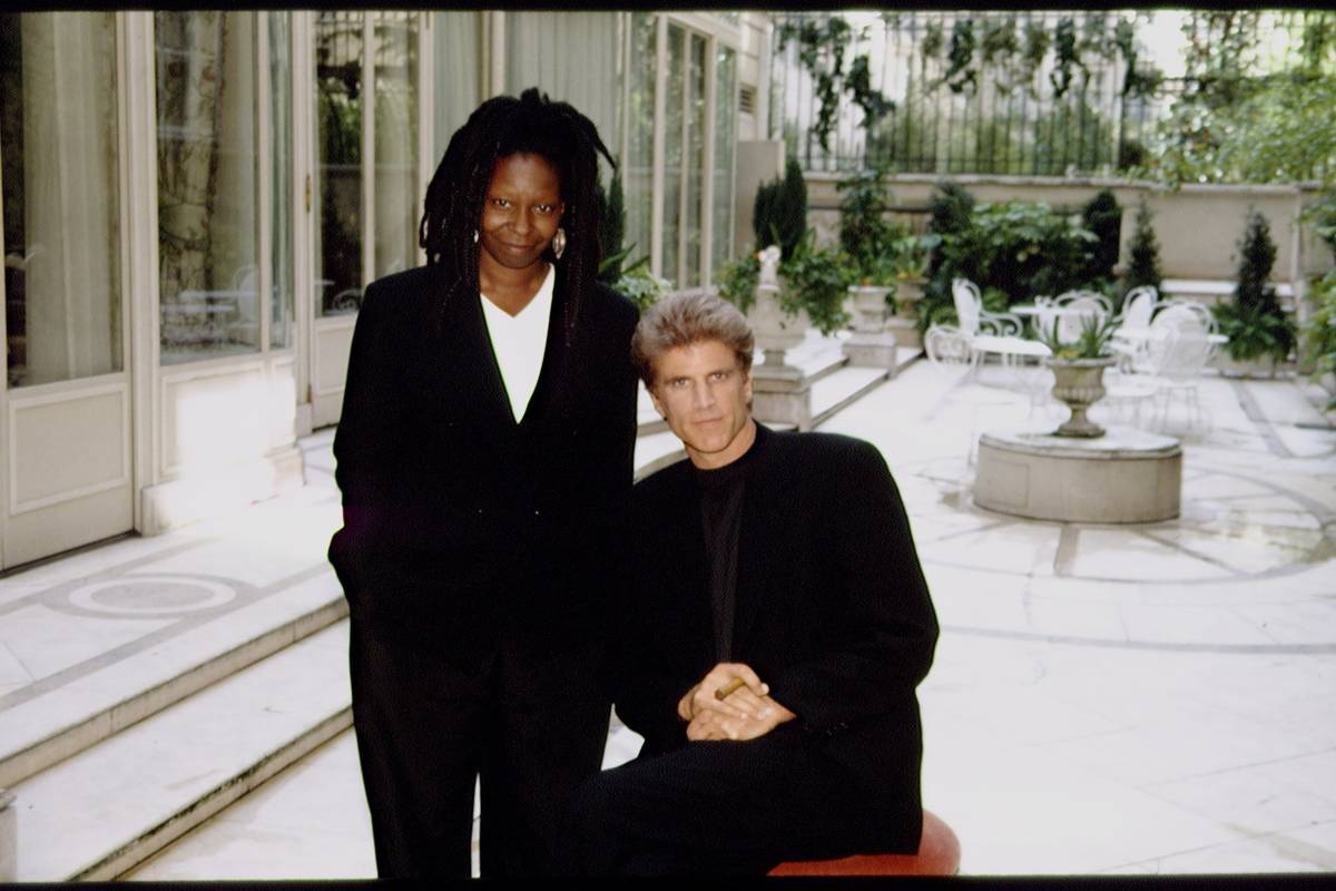 WHOOPI GOLDBERG AND TED DANSON AT THE RITZ HOTEL