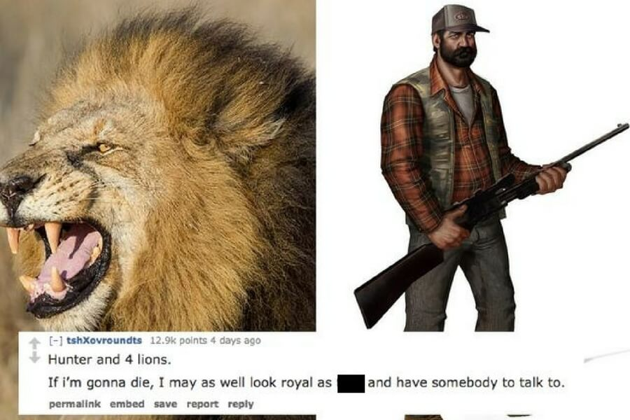 hunter and 4 lions explained.jpg