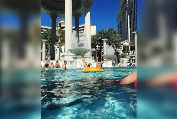 Swim Like A God At Caesar's Palace