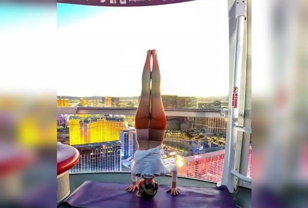 Practice Yoga In The Sky