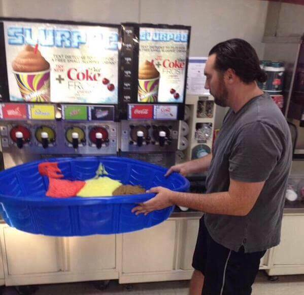 Kiddie pool slurpee